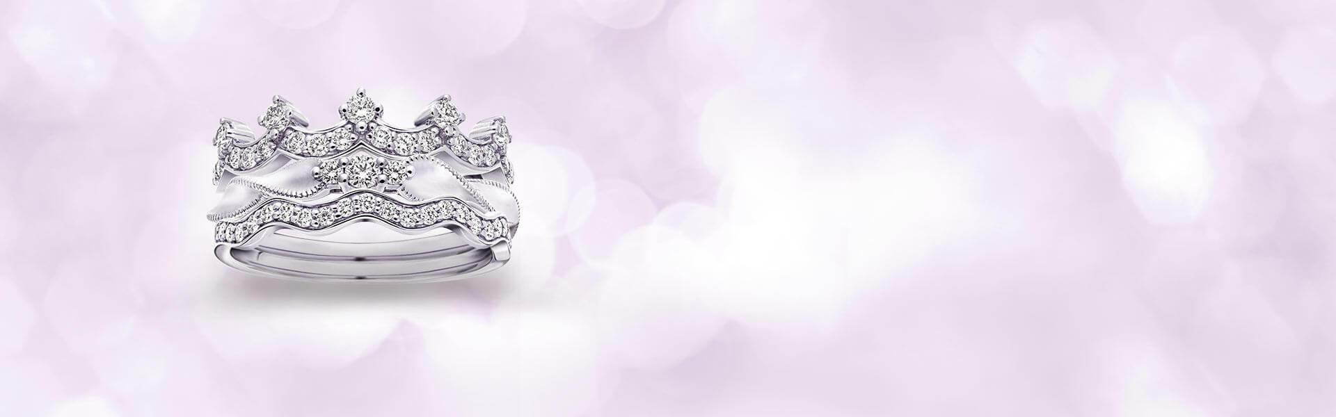 鑽石戒指-鑽石線戒