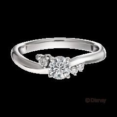 米奇&米妮系列鉑金求婚戒指