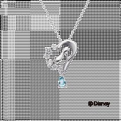 【迪士尼公主系列 】仙度瑞拉高跟鞋鑽石項鍊