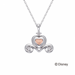 【迪士尼公主系列 】仙度瑞拉馬車鑽石項鍊