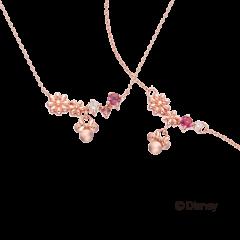 米奇&米妮系列玫瑰金項鍊玫瑰金手鍊