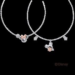 米奇&米妮系列10K雙色鑽石手鍊