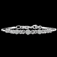 蕾絲心鍊 18K金 輕奢鑽石手鍊