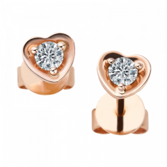 戀心系列  18K玫瑰金 愛心貼式耳環