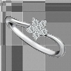 鑽石小花 18K金 花款輕奢鑽戒