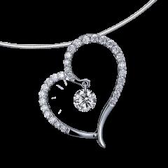 心動系列 18K金 愛心輕奢鑽石項鍊