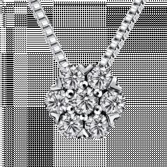 小白花 18K金 輕奢鑽石項鍊