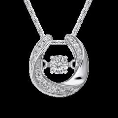 跳舞鑽石 守護幸運系列III 18K金 輕奢鑽石項鍊