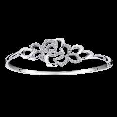 花漾  18K金 寬版鑽石手環