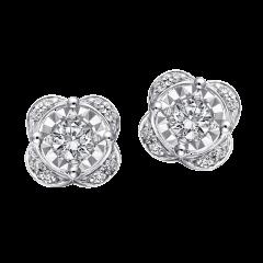 繁星點點 18K金  雙戴款貼式耳環