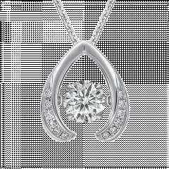 跳舞鑽石 WishⅡ 18K金 單顆鑽石項鍊
