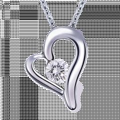 甜蜜蜜 10K金 輕珠寶鑽石項鍊