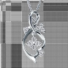 曼妙春色 18K金 輕珠寶鑽石項鍊