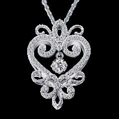 東方迷情 18K金 輕珠寶鑽石項鍊