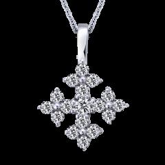 光芒 18K金 輕珠寶鑽石項鍊