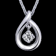 愛的垂墜 10K金 輕珠寶鑽石項鍊