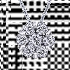 亮點  10K金 輕珠寶鑽石項鍊