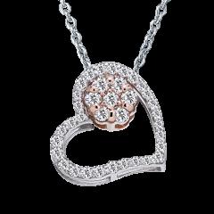 心花 雙色 雙戴款 輕珠寶鑽石項鍊