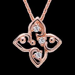 小確幸 10K玫瑰金 輕珠寶鑽石項鍊