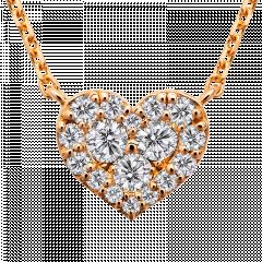 心意滿滿 18K玫瑰金 輕珠寶鑽石項鍊