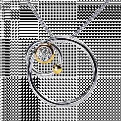 守護  18K金  圓型輕奢鑽石項鍊