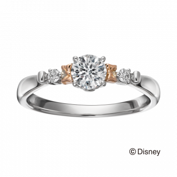 米奇&米妮系列雙色求婚戒指