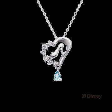迪士尼公主系列 仙度瑞拉高跟鞋鑽石項鍊