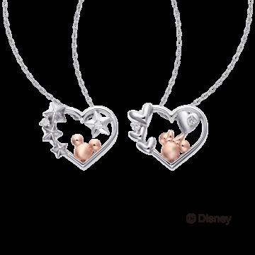 米奇&米妮系列愛心鑽石項鍊