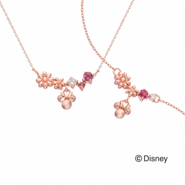米奇&米妮系列鑽石項鍊鑽石手鍊