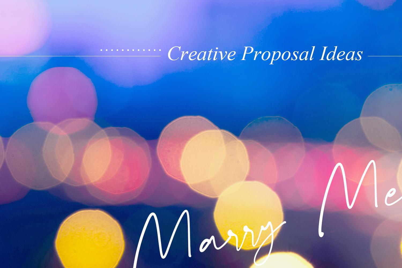 永生難忘的創意求婚方式大集合!