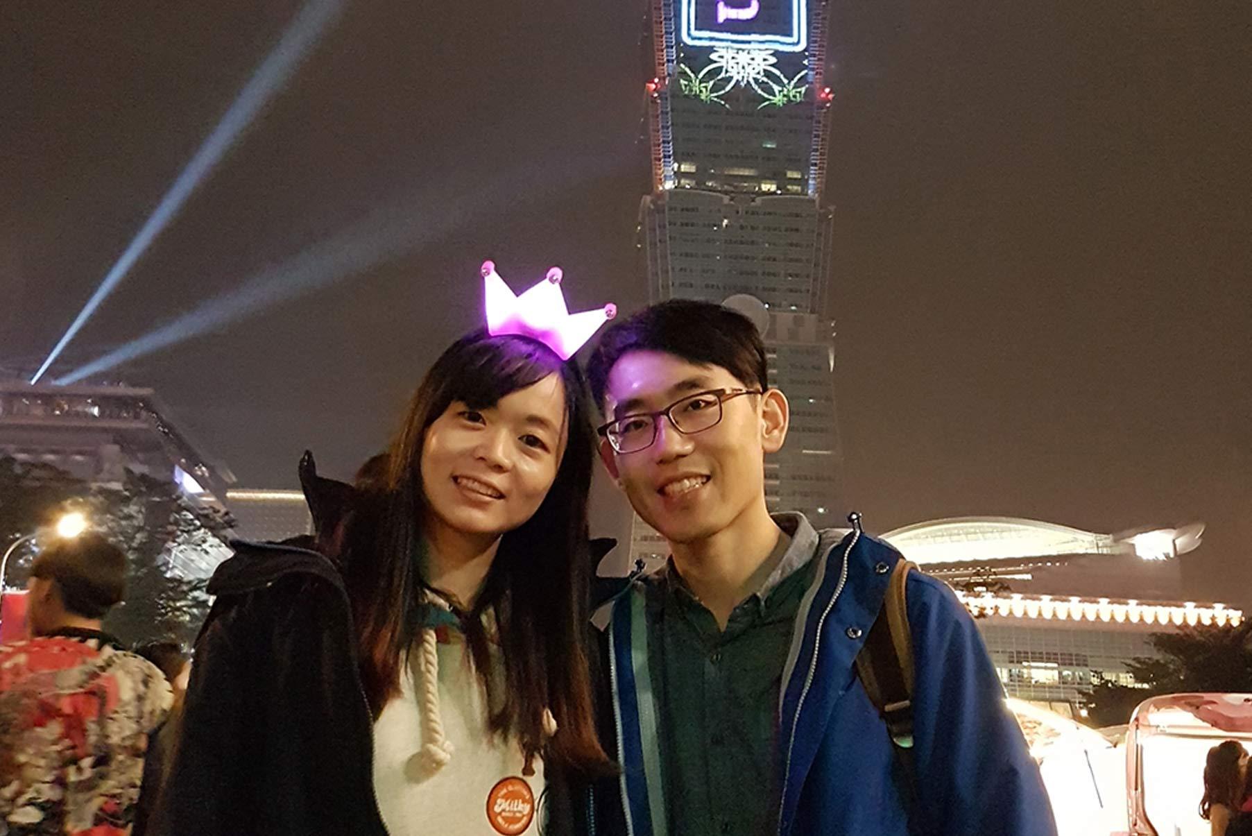 台北跨年浪漫求婚